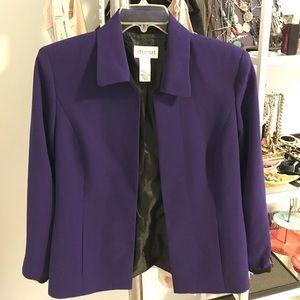 Plus Size Vintage Blazer (Purple)